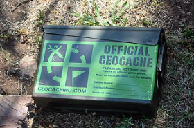 An Official Geocache Box