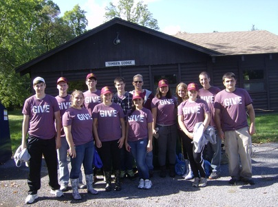 Gannon students participating in GIVE